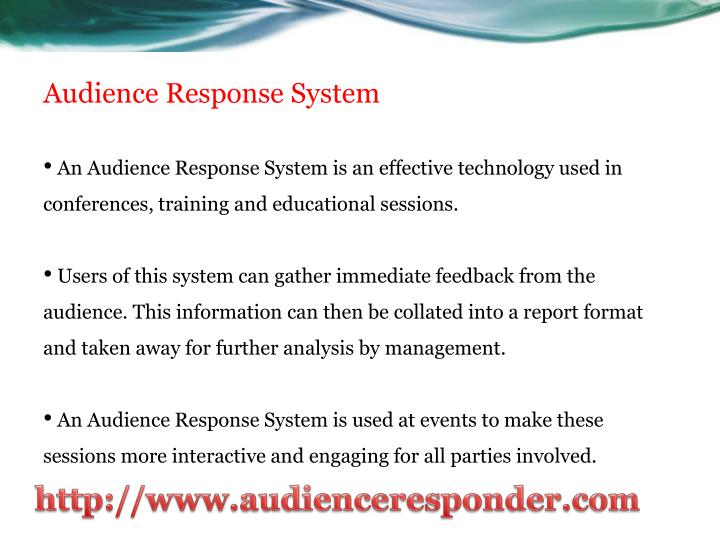 Audience response system3