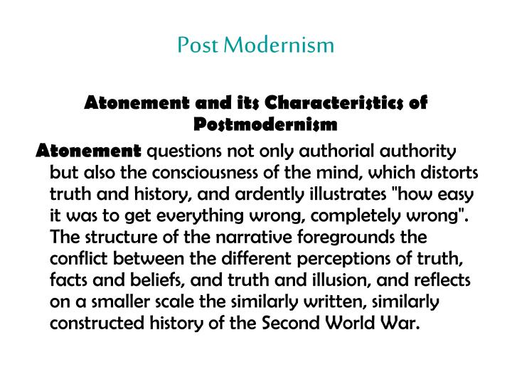 modernism and post modernism in literature Postmodernism: origin and definition of postmodernism postmodernism has emerged as an important political current in the contemporary philosophical scenario and offered a deep and far-reaching criticism of modernism it has challenged all the traditional as well as modem categories of thoughts.