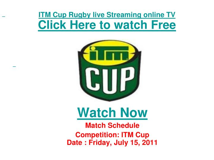Itm cup rugby live streaming online tv click here to watch free