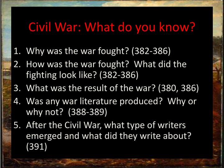 Civil War: What do you know?