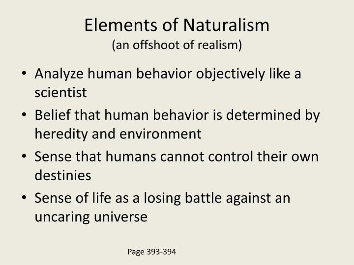 Elements of Naturalism