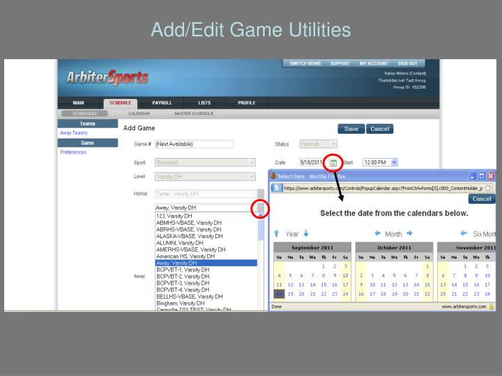 Add/Edit Game Utilities