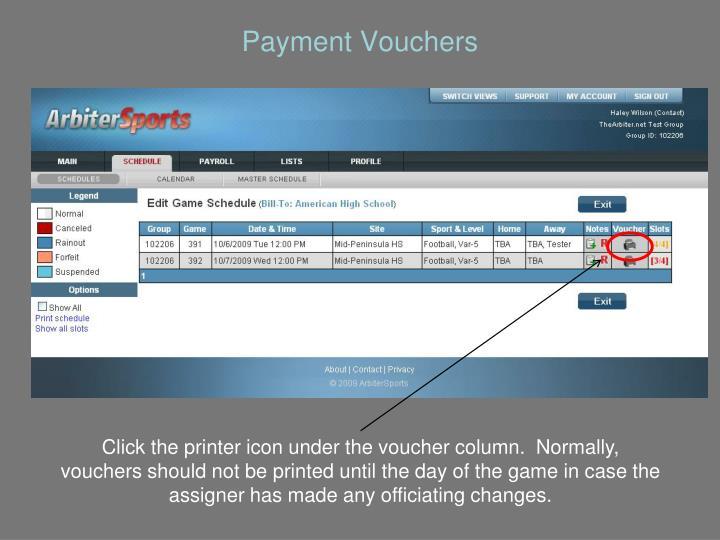 Payment Vouchers