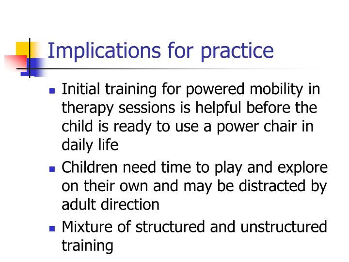 Implications for practice