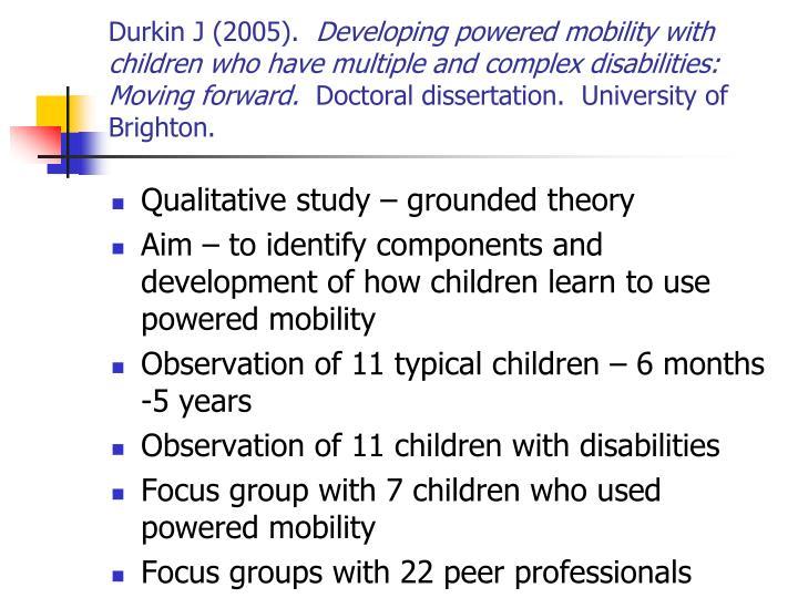 Durkin J (2005).