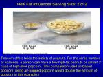 how fat influences serving size 2 of 2
