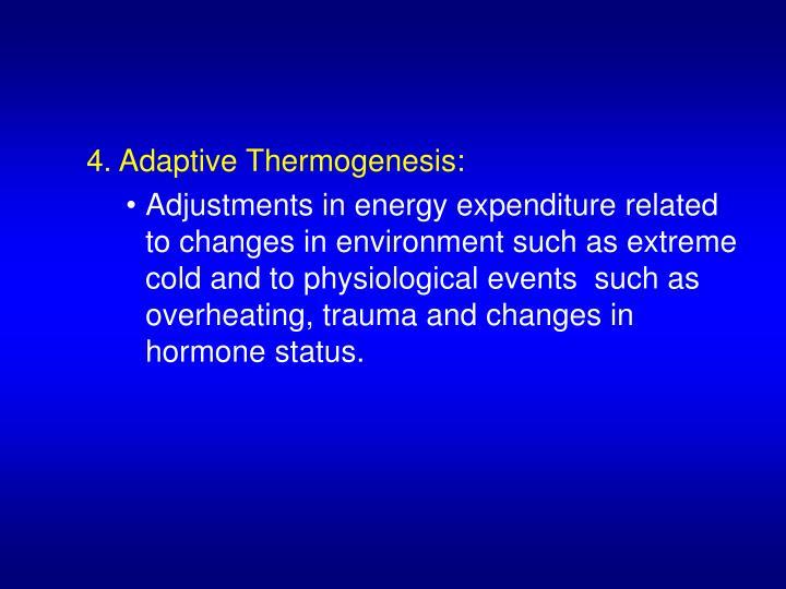 4. Adaptive Thermogenesis: