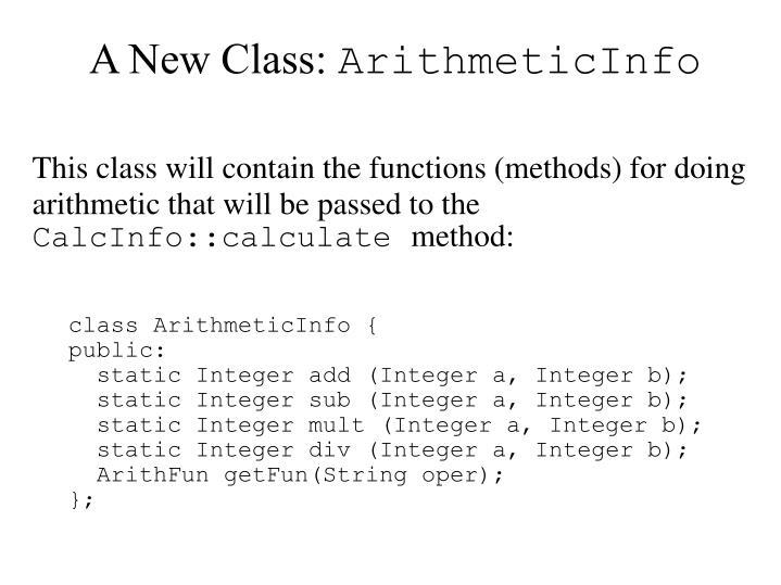 A New Class:
