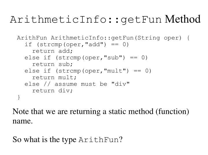 ArithmeticInfo::getFun