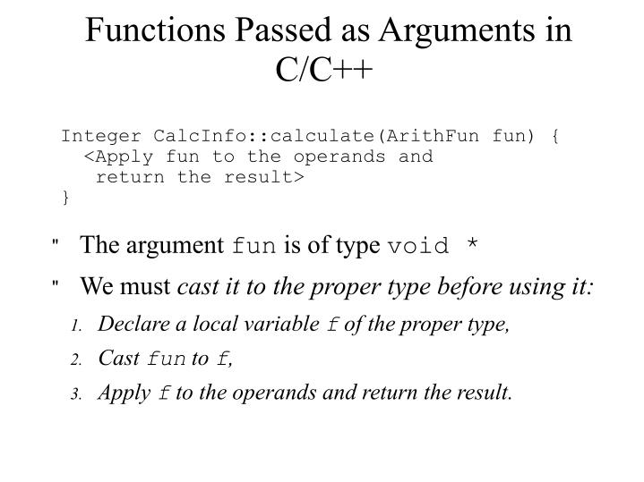 Functions Passed as Arguments in C/C++