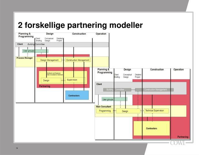 2 forskellige partnering modeller
