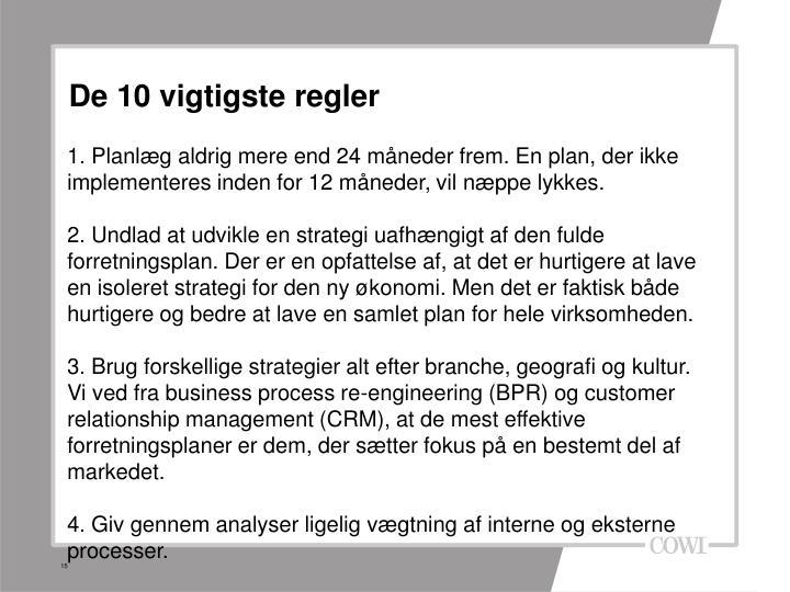 De 10 vigtigste regler