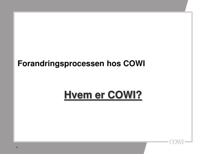 Forandringsprocessen hos COWI