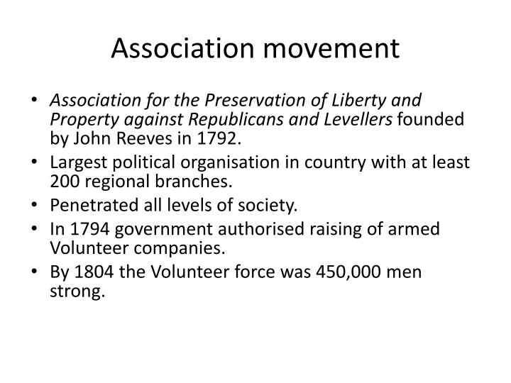 Association movement