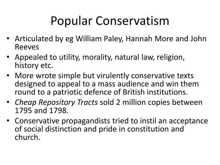 Popular Conservatism