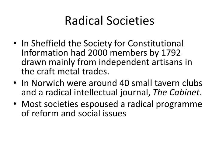 Radical Societies