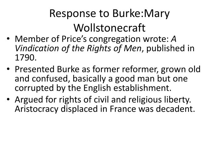 Response to Burke:Mary Wollstonecraft