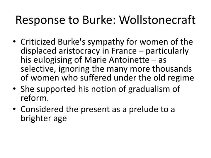 Response to Burke: Wollstonecraft