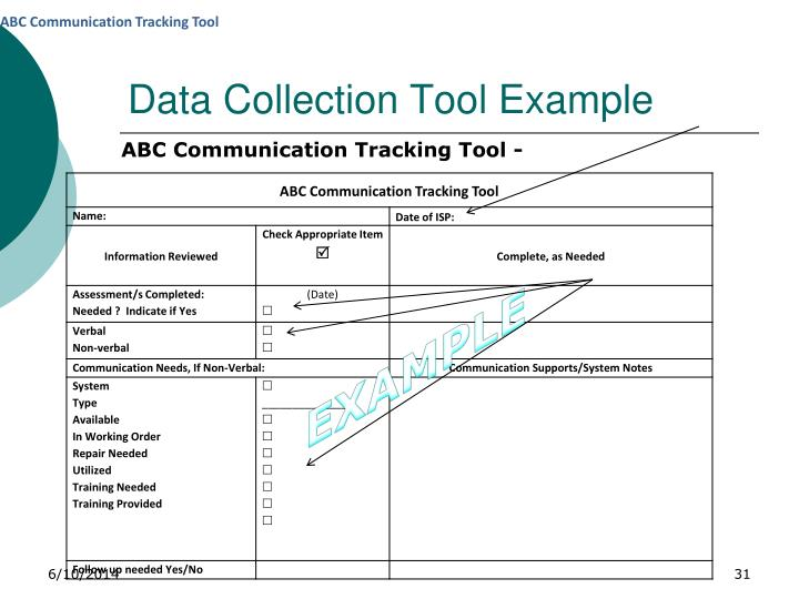 Data Collection Tool Example