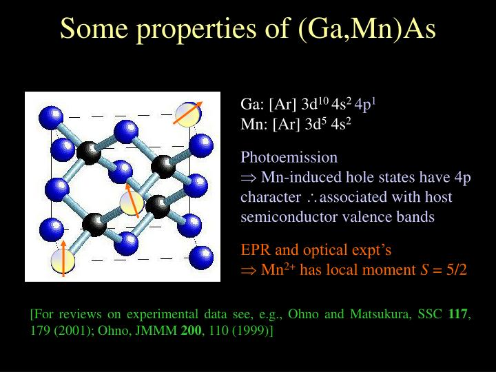 Some properties of (Ga,Mn)As