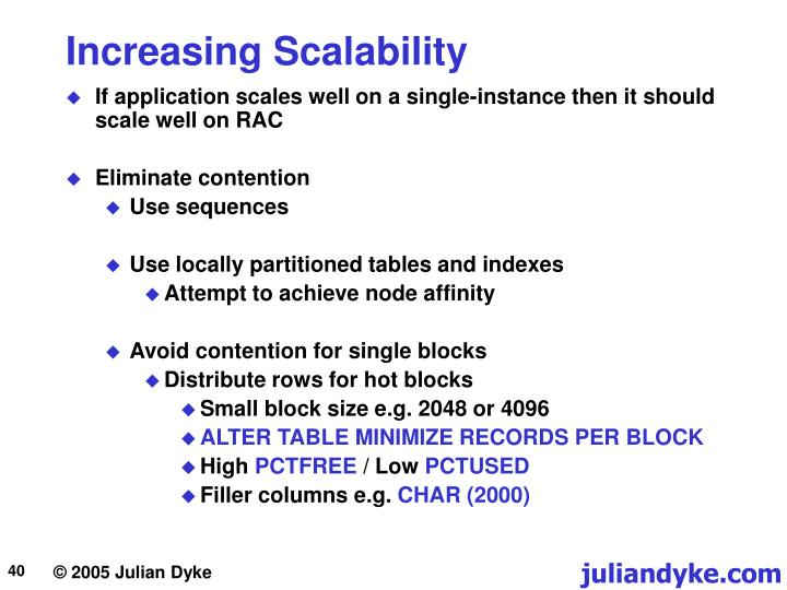 Increasing Scalability