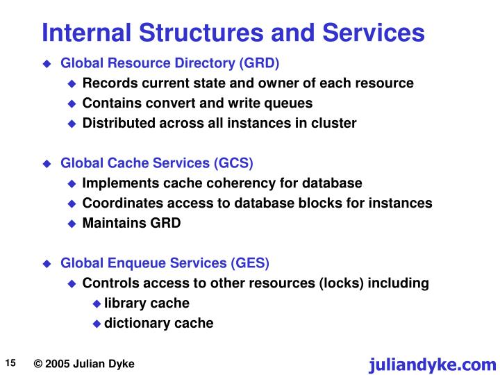 Internal Structures and Services