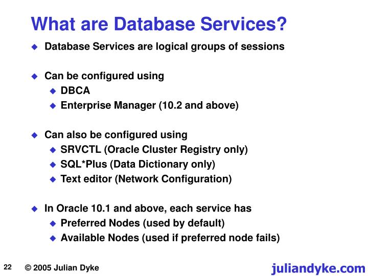 What are Database Services?