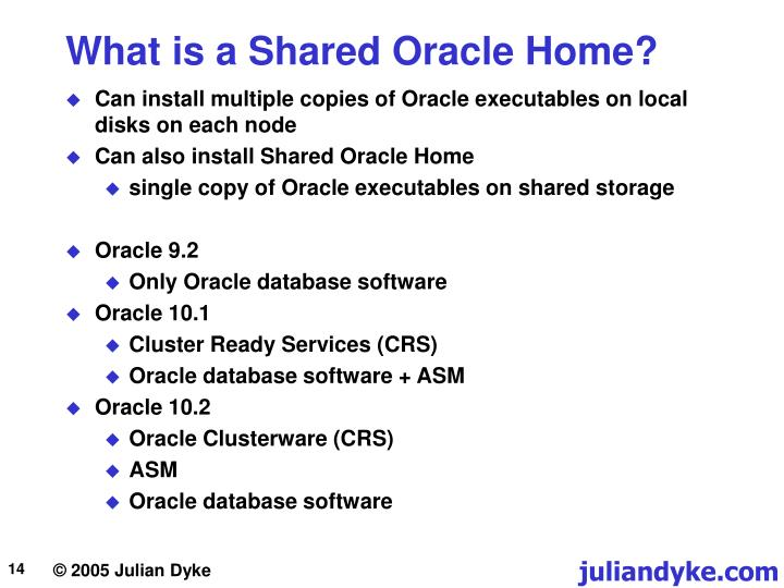 What is a Shared Oracle Home?
