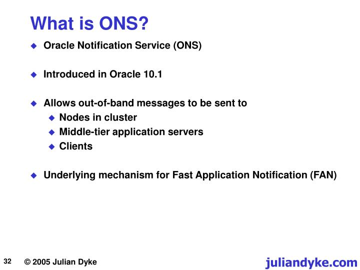 What is ONS?