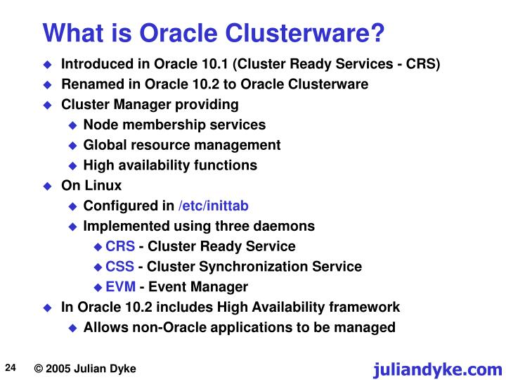 What is Oracle Clusterware?