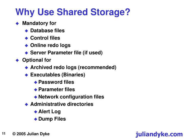 Why Use Shared Storage?