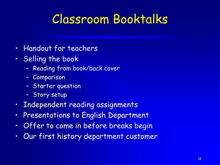 Classroom Booktalks