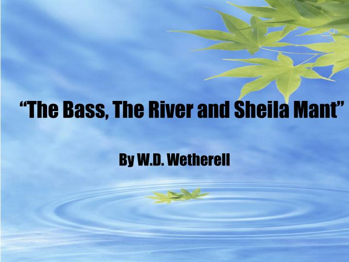"""The Bass, The River and Sheila Mant"""