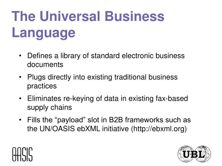 The universal business language