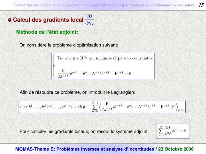 Calcul des gradients local