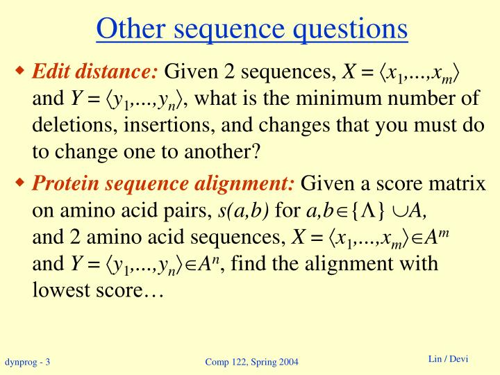 Other sequence questions