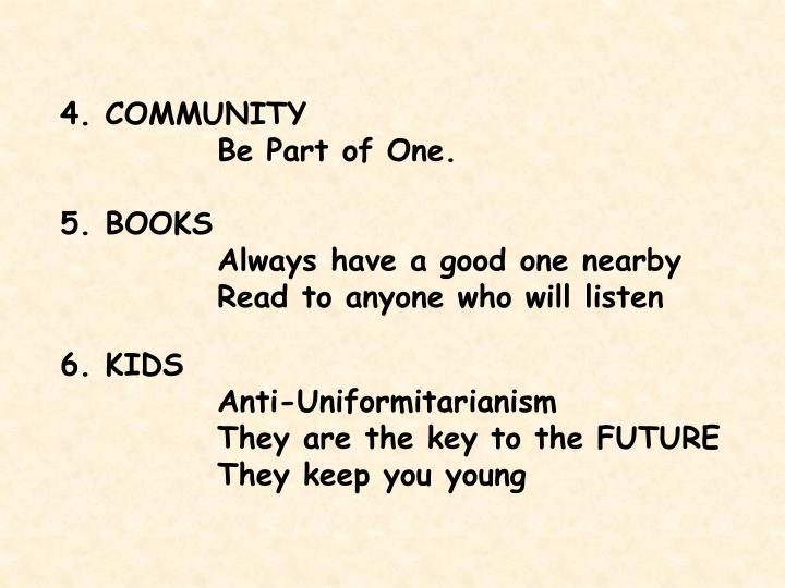 4. COMMUNITY