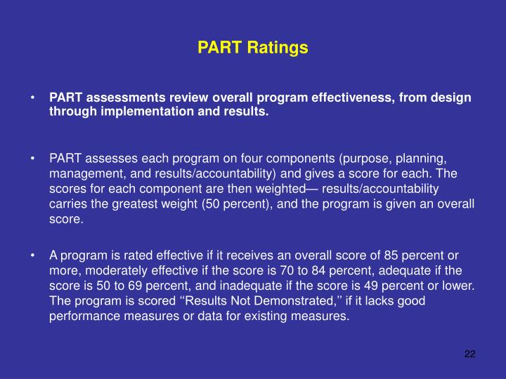 PART Ratings