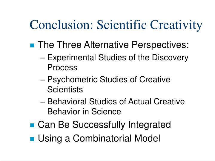 Conclusion: Scientific Creativity