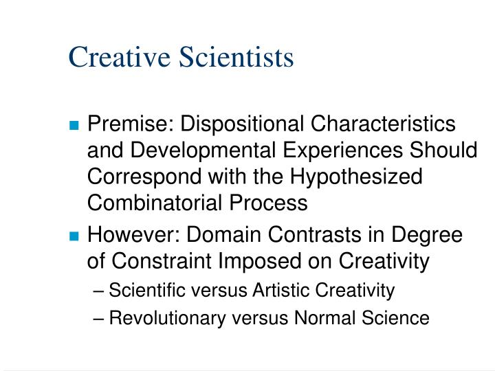 Creative Scientists