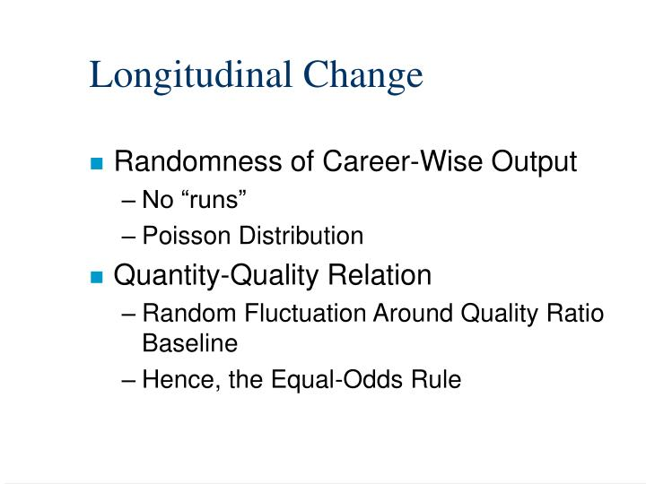 Longitudinal Change
