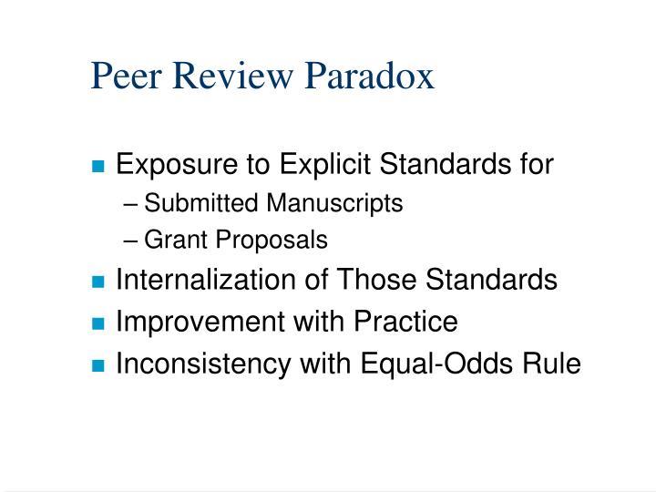 Peer Review Paradox