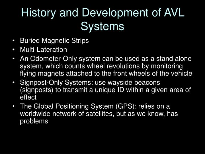 History and Development of AVL Systems