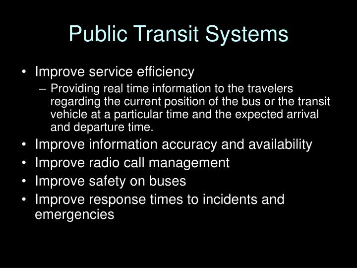 Public Transit Systems