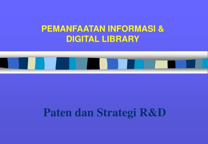 Paten dan Strategi R&D