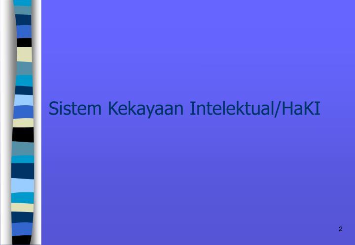 Sistem Kekayaan Intelektual/HaKI