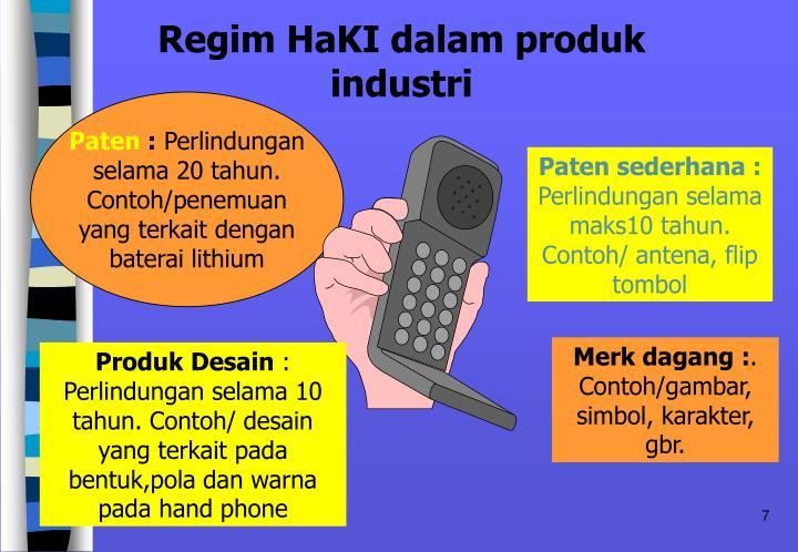Regim HaKI dalam produk industri