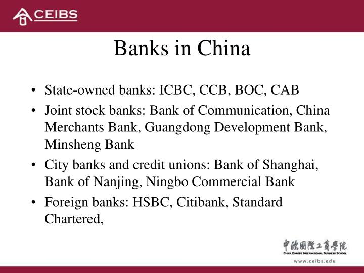 Banks in China