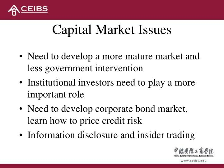 Capital Market Issues
