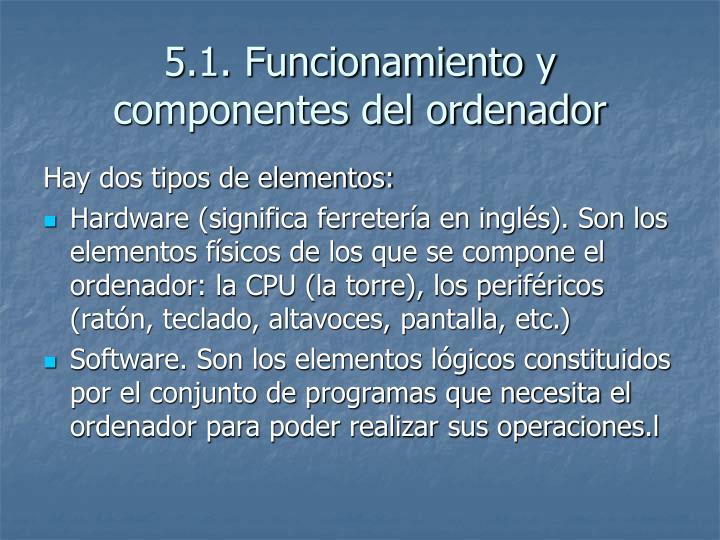 5.1. Funcionamiento y componentes del ordenador